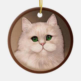 Amante del gato ornamentos para reyes magos