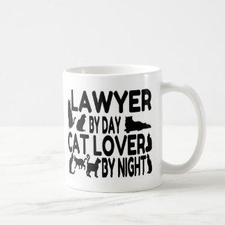 Amante del gato del abogado taza de café