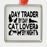Amante del gato del comerciante de día ornamento para reyes magos