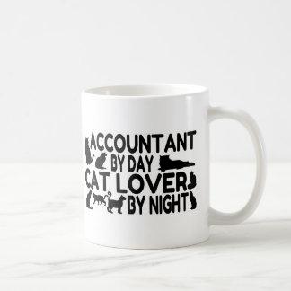 Amante del gato del contable taza de café