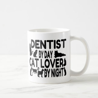 Amante del gato del dentista taza de café