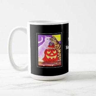 Amante del gato del fantasma taza clásica