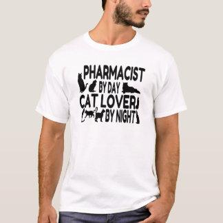 Amante del gato del farmacéutico playera