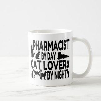 Amante del gato del farmacéutico taza