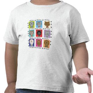 Amante del gato del maullido camisetas