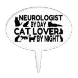 Amante del gato del neurólogo figura de tarta
