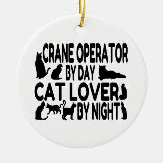 Amante del gato del operador de grúa adornos