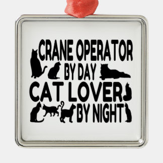 Amante del gato del operador de grúa ornatos