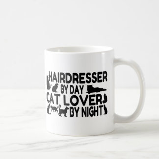 Amante del gato del peluquero taza de café