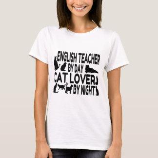 Amante del gato del profesor de inglés playera