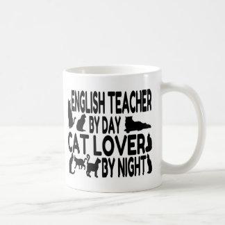 Amante del gato del profesor de inglés taza de café