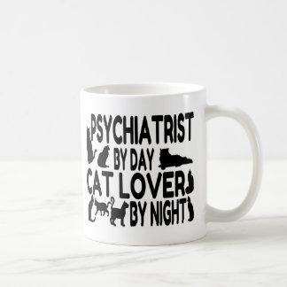 Amante del gato del psiquiatra taza de café