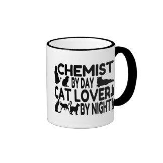 Amante del gato del químico taza a dos colores
