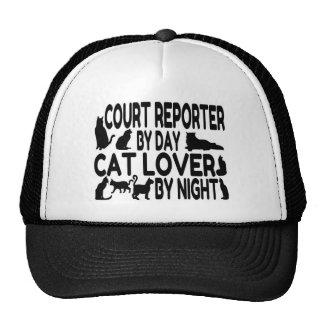Amante del gato del reportero de corte gorros bordados