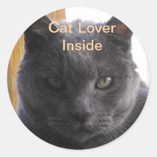Amante del gato dentro del pegatina