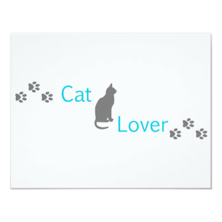 Amante del gato invitación personalizada