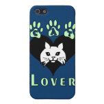 Amante del gato iPhone 5 funda