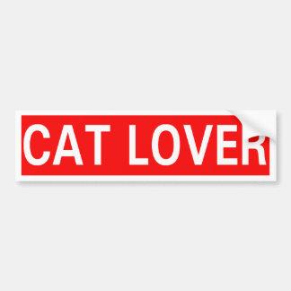 Amante del gato pegatina de parachoque