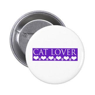 Amante del gato pin redondo 5 cm