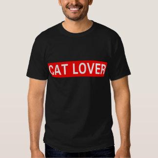 Amante del gato playeras