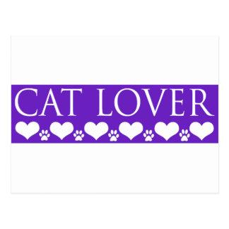 Amante del gato postales