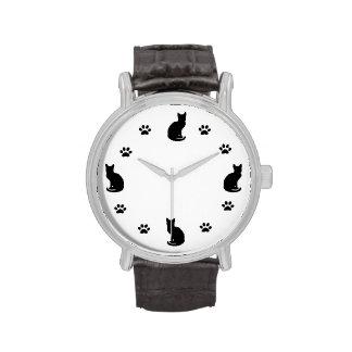 Amante del gato reloj de mano