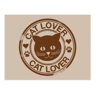 Amante del gato tarjeta postal