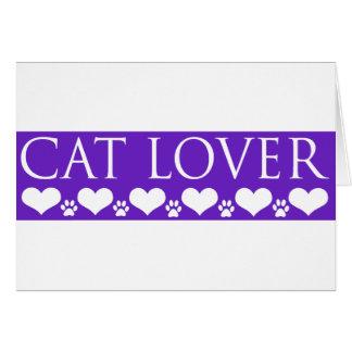 Amante del gato tarjetón