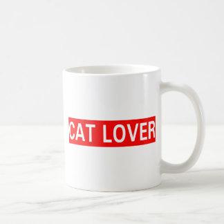 Amante del gato taza de café