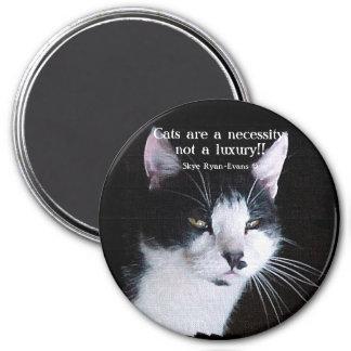 Amante del gato y imán negros y blancos del poema