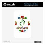Amante del Gecko iPod Touch 4G Calcomanías