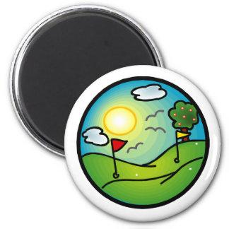 Amante del golf iman para frigorífico