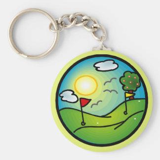 Amante del golf llavero redondo tipo pin
