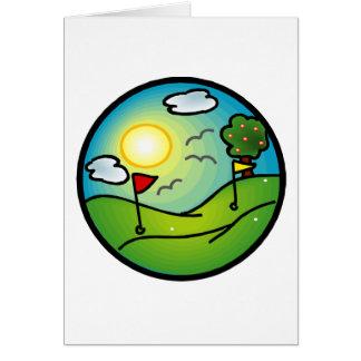 Amante del golf tarjeta de felicitación