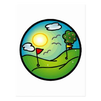 Amante del golf postal