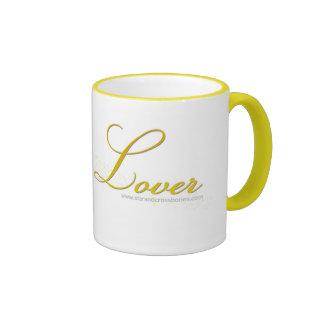 Amante del hilado taza de dos colores