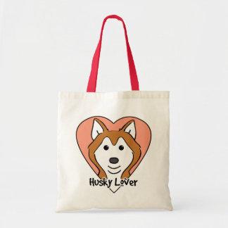 Amante del husky siberiano bolsas