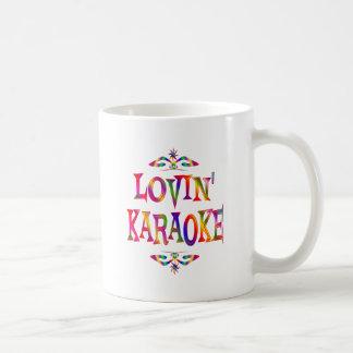 Amante del Karaoke Taza Básica Blanca