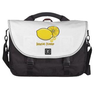 Amante del limón bolsas para portátil