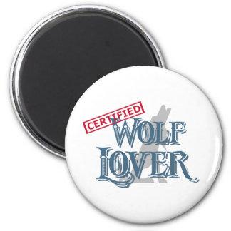 Amante del lobo imán redondo 5 cm