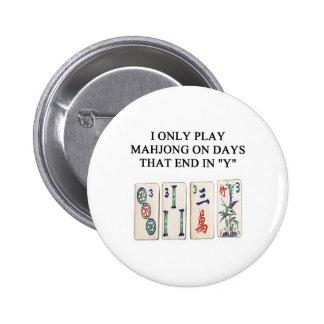 amante del mahjong pin redondo de 2 pulgadas