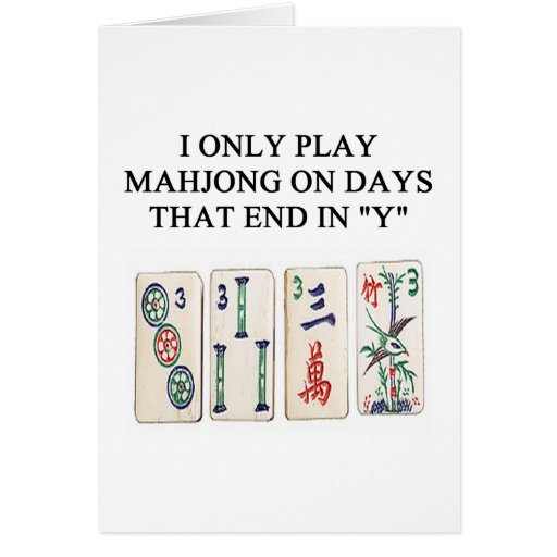 amante del mahjong tarjeta
