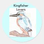 Amante del martín pescador pegatinas redondas