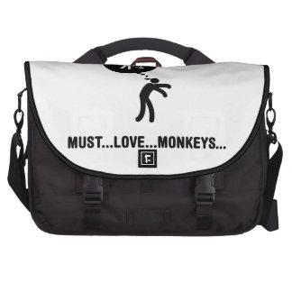 Amante del mono bolsas de portatil