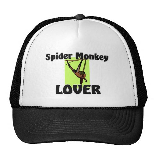 Amante del mono de araña gorro