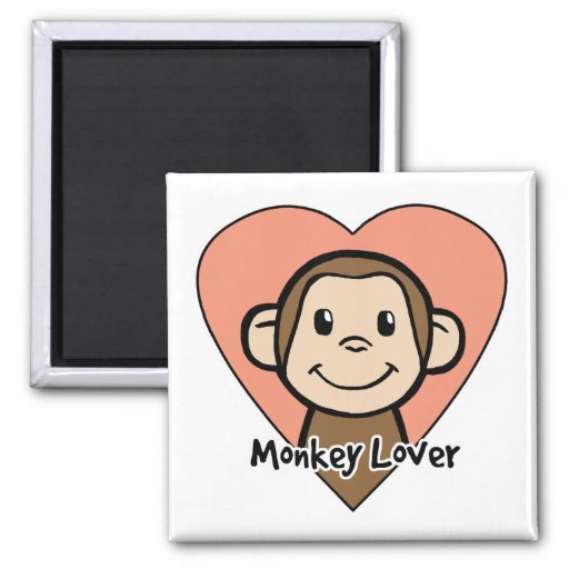 Amante del mono imán para frigorífico