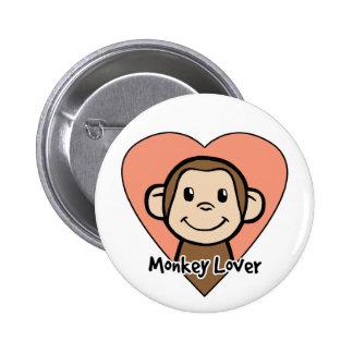 Amante del mono pin redondo 5 cm