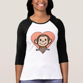 Amante del mono playera