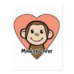 Amante del mono postal