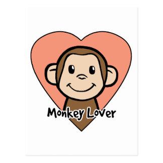 Amante del mono postales